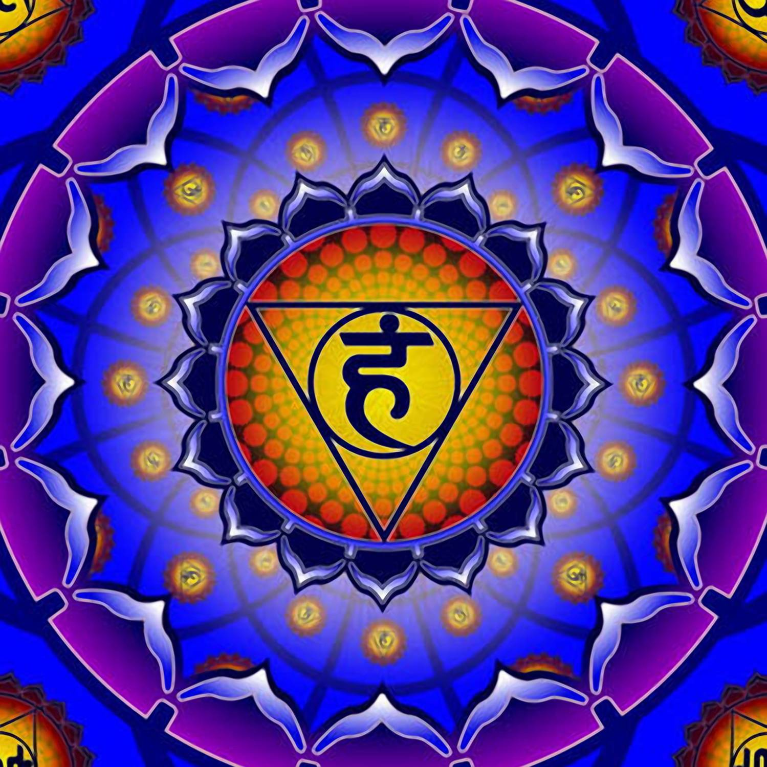 Пятая, горловая чакра — Вишудха
